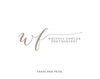 Premade Logo Design - Calligraphy Logo - Watermark Logo - Photography Logo - Small Business Logo (060)