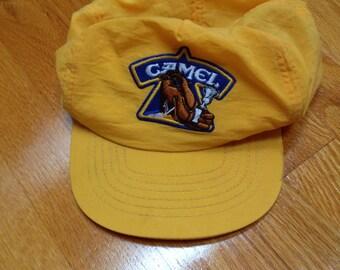 Yellow Nylon Camel Cigarettes Cap