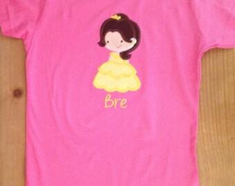 Cutie Princess as Belle Shirt or Baby Bodysuit