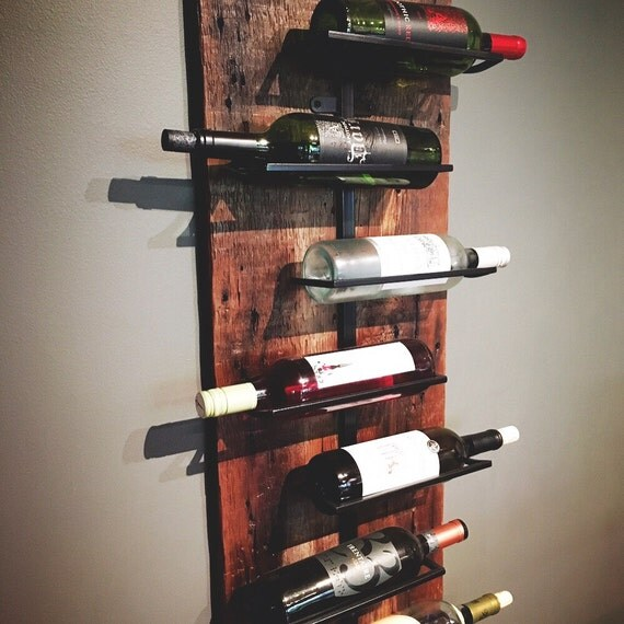 Rustic Modern Salvaged Wood Wine Rack
