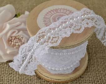White Pearl and Tulle laces.