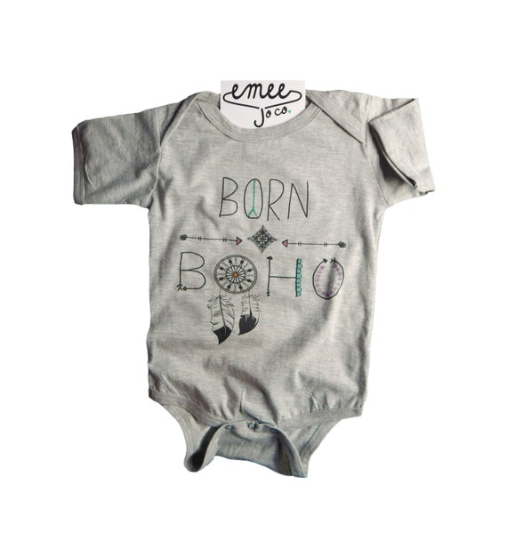 Born Boho Bohemian Baby Clothes Baby Girl Clothes by EmeeJoCo