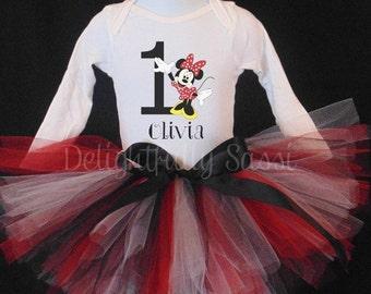 Minnie Birthday Tutu Set, Birthday Tutu Outfit, Birthday Tutu, Minnie Mouse