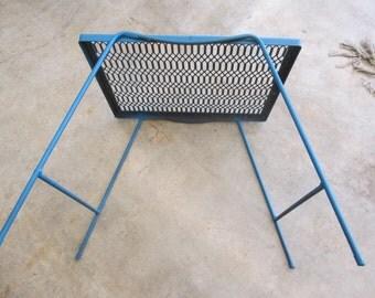 Vintage Blue Mesh Metal Table