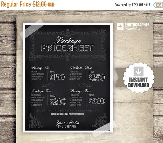 Wedding Photography Houston Prices: 20% OFF SALE Photography Price List By PhotographTemplates