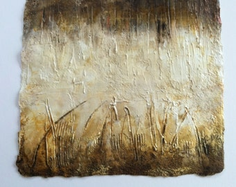 Acrylic Abstract Art Painting, Original  Painting, Textured  Abstract, Earth Tones, Cream, Brown, Golds, Wall Art, Home Decor, Contemporary