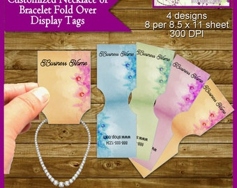 Custom Jewelry Tags, Jewelry Price Tags, Display Tags, Inspired for Necklace or Bracelet - Printable Digital File