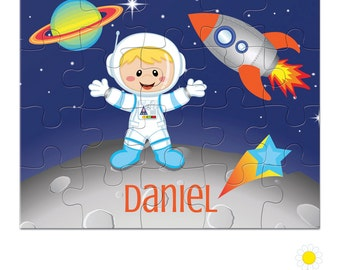 Personalized Space Puzzle for Kids - Astronaut Puzzle with Name - Space Custom Name Jigsaw - Personalized Astronaut Puzzle - Birthday Gift