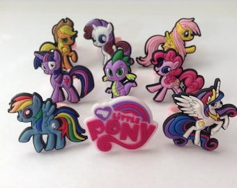 My Little Pony Rings Party Favor Cupcake Toppers