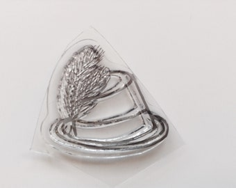HNew for Rubber Stamping & Handmade Cards 1 Clear Acrylic  Stamp Hat #3