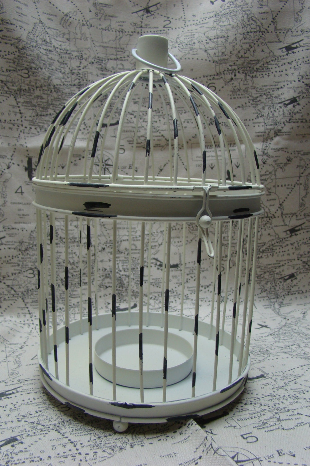 bird cage home decor shabby chic white bird cage. Black Bedroom Furniture Sets. Home Design Ideas