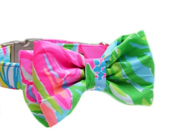 """Lilly Pulitzer Dog Bow Tie in """"So A Peeling"""""""