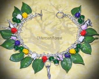 The Goddess in Bloom Tulip Pagan Bracelet - Pagan Jewellery, Wicca, Spring, Equinox, Flowers