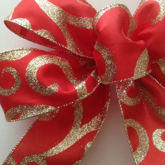 Christmas Red And Gold Decorative Bows Christmas By