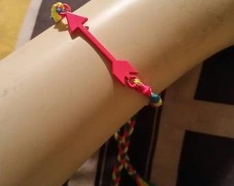neon pink arrow friendship bracelet/anklet