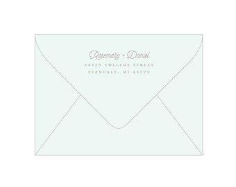 Return Address Stamp - Rubber Stamp with Wooden Handle - Snowfall