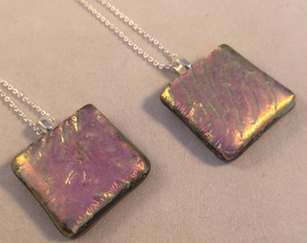 Soft Purple Pendant on chain