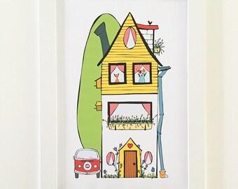 Home sweet home | Poster | Illustration | Nursery art