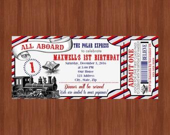 train invitation  etsy, Party invitations