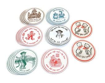Hallmark Round Coasters, Paper Coasters,