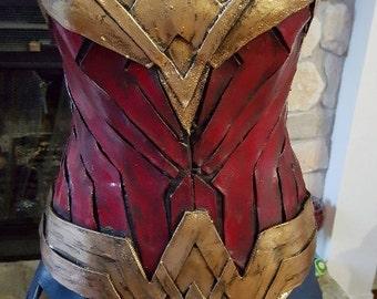 New Wonder Woman costume corset