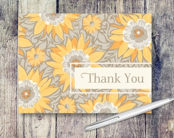 Blank Note Cards | Sunflower Note Cards | Thank You Card Set | Note Card Set