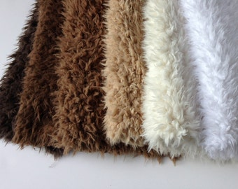 "18"""" x 20""  or  18"" x  30"" Faux Flokati Fur 12 Colors, Newborn Baby Photo Prop, Flokati Look, Faux Sheep Fur, Luxury Photo Prop,"