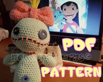 Voodoo Doll inspired by Scrump (Lilo and Stitch) Crochet Amigurumi INSTRUCTIONS ONLY
