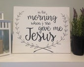 Give me Jesus Reclaimed Pallet Sign - Vintage Inspirational Quote