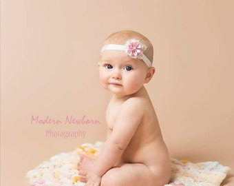 Newborn tieback,newborn photo prop,halo,crown,head wrap,natural,photography props