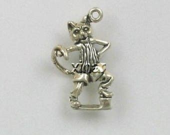 Sterling Silver 3D Puss in Boots Charm