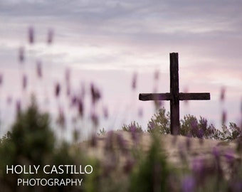 Crucifix in Lavenders Christian Fine Art Photograph Multiple Sizes Available