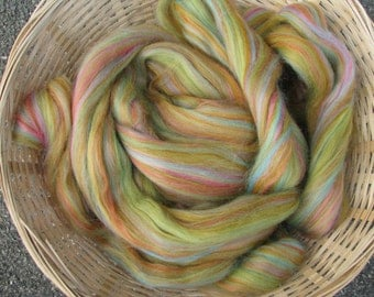 Blended Merino Wool and Bamboo Fibre Tops.  Pen-y-Lan Over the Rainbow