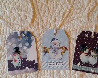 Christmas Gift Tags -- Set of 3