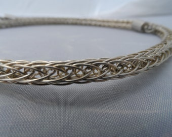 18 Inch Silver Plated Viking Knit Necklace