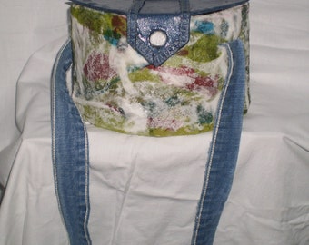 Handmade womens shoulder bag made by recycled material