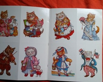 Victorian Cats All Occasion Postcards Evelyn Gathings Victorian Style Cats Postcard Book 1987