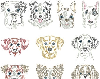 Dog breeds part 2 for the border 10x10cm