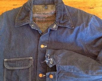 Wrangler Sanforized lined chore coat  size 44