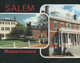 Unused Postcard of Salem, Massachusetts, Hawks House, Darby House, good shape, c1980
