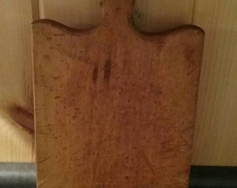 Vintage Bird's Eye Maple Rectangular Cutting Board Handle