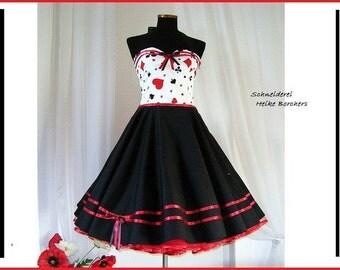 Petticoat dress, 50s dress, neckholder dress, cotton dress, halloweendress, skirt dress, dress,