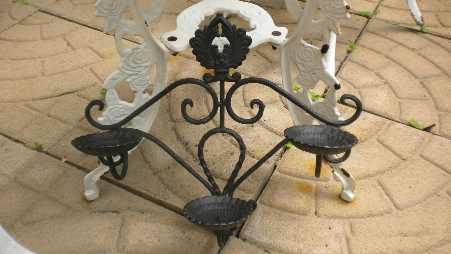 Metal Wall Sconces For Plants : Farmhouse Iron Sconce Wall Planter Rustic Candle Holder
