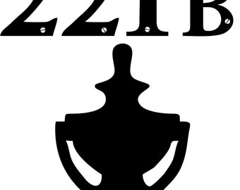 221 B Baker Street Decal