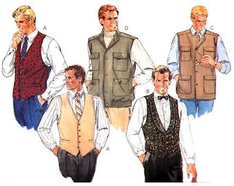 Butterick Sewing Pattern 4484 Men's Vest   Size:  XS-Med  30-40  Used