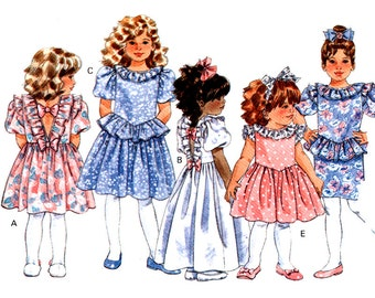 Butterick Sewing Pattern 4760 Toddlers Dress  Size:  1-2-3  Uncut