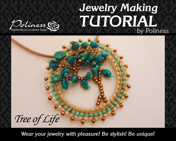 Beading patterns step by step tutorials beaded tutorial beading patterns step by step tutorials beaded tutorial jawellery making tree of life pendant handmade jewelry pdf from polinessjewelry on mozeypictures Choice Image