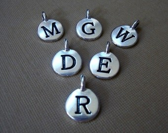 Initial Charm, Initial Charm Add-On For Necklaces and Keychains