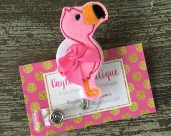 Nurse Badge Reel - Flamingo Badge Reel - Summer - Nurse Name Badge - Nurse Badge Reel- Nurse Badge Holder - Christmas Gift