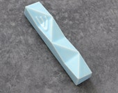 Light blue Mezuzah case Modern Judaica  - Fits 7cm scroll Gift from Israel,passover gift
